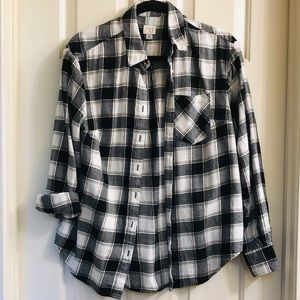 A New Day ladies plaid flannel shirt